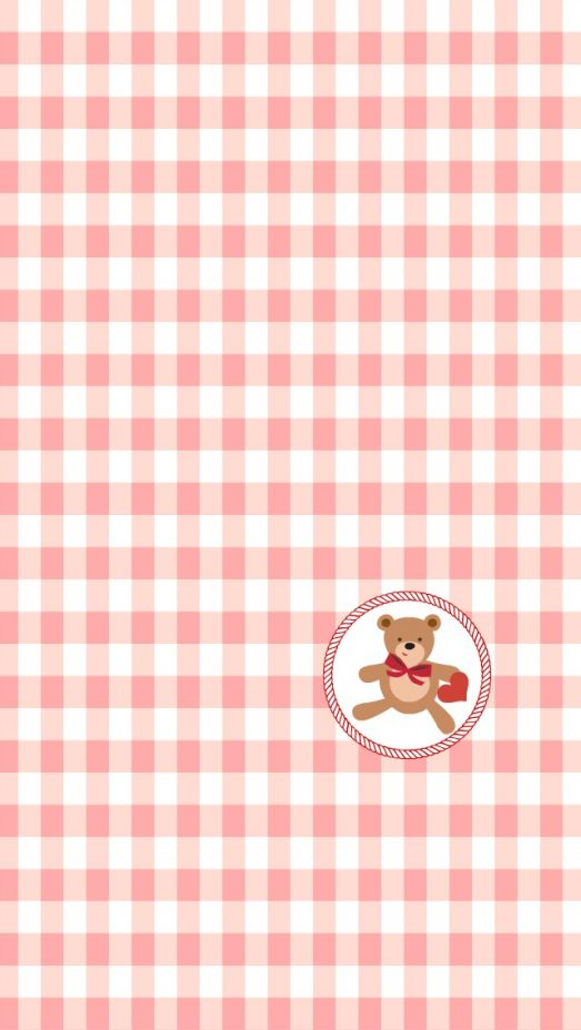 Bear and Heart iphone Wallpaper