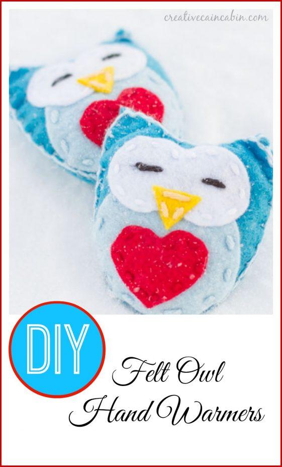 DIY Felt Owl Hand Warmers