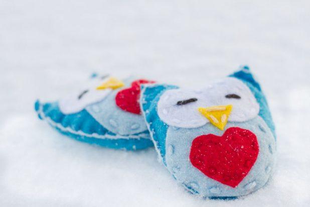 Felt Owl Hand Warmers