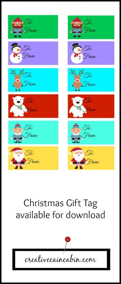 Kids Holiday Gift Tag Printable