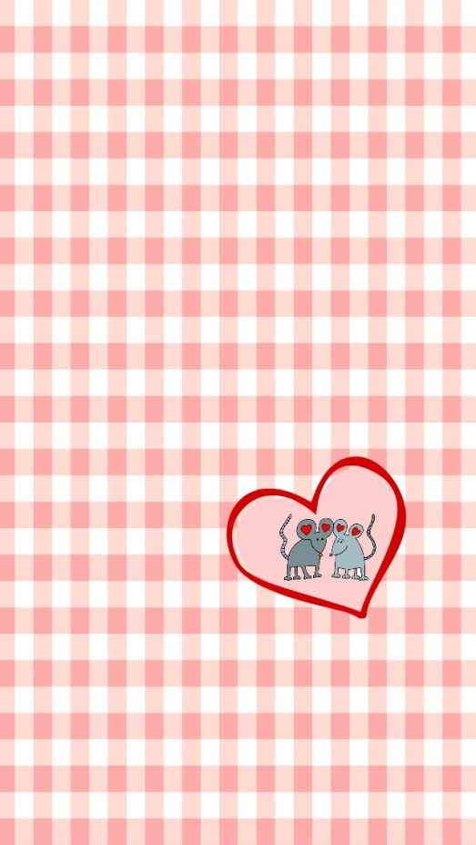 Mice and Heart iphone Wallpaper