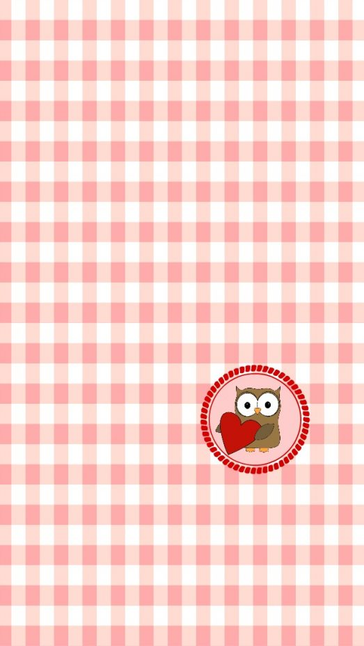 Owl and Heart iphone Wallpaper