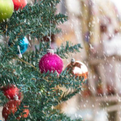 Jewel Tone Christmas Porch
