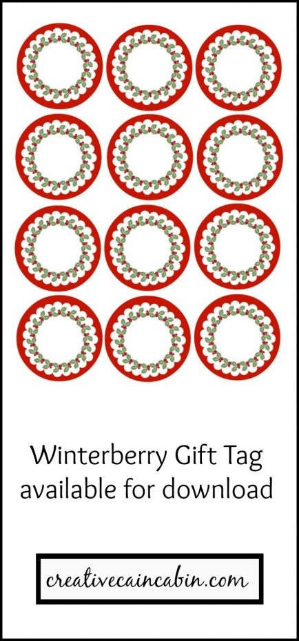 Winterberry Gift Tag