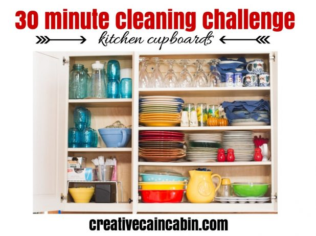 30 Minute Cleaning Challenge Upper Cupboards