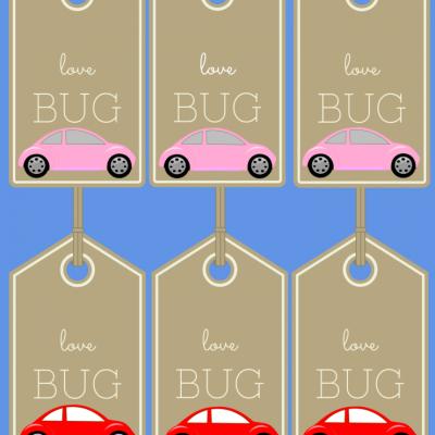 """Valentine """"Love Bug"""" Tags"""