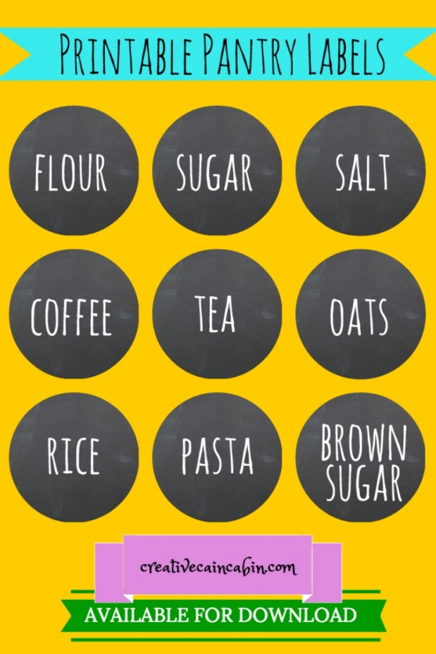Printable Pantry Labels