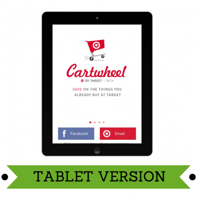 """Target's New Money Saving App """"Cartwheel"""""""