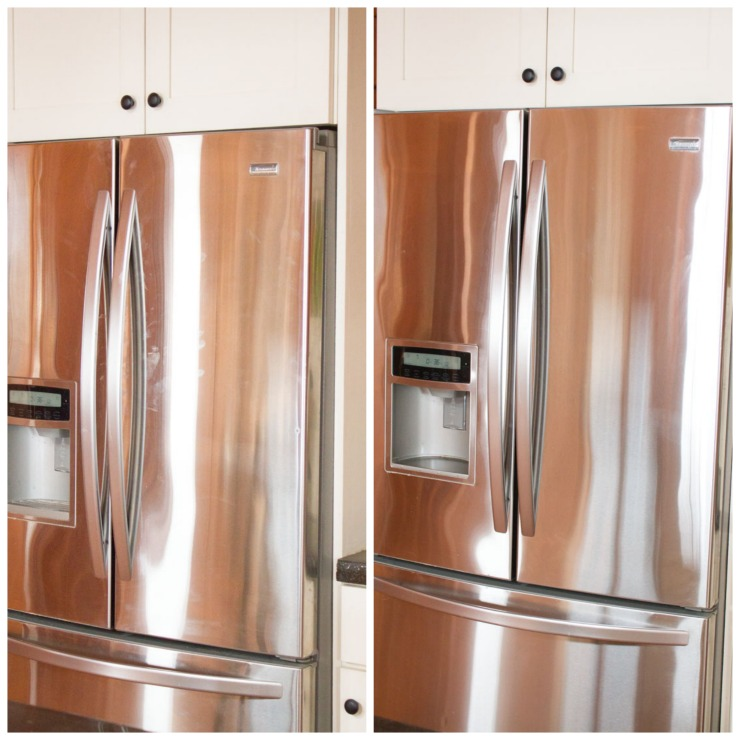 Stainless Fridge Cleaning