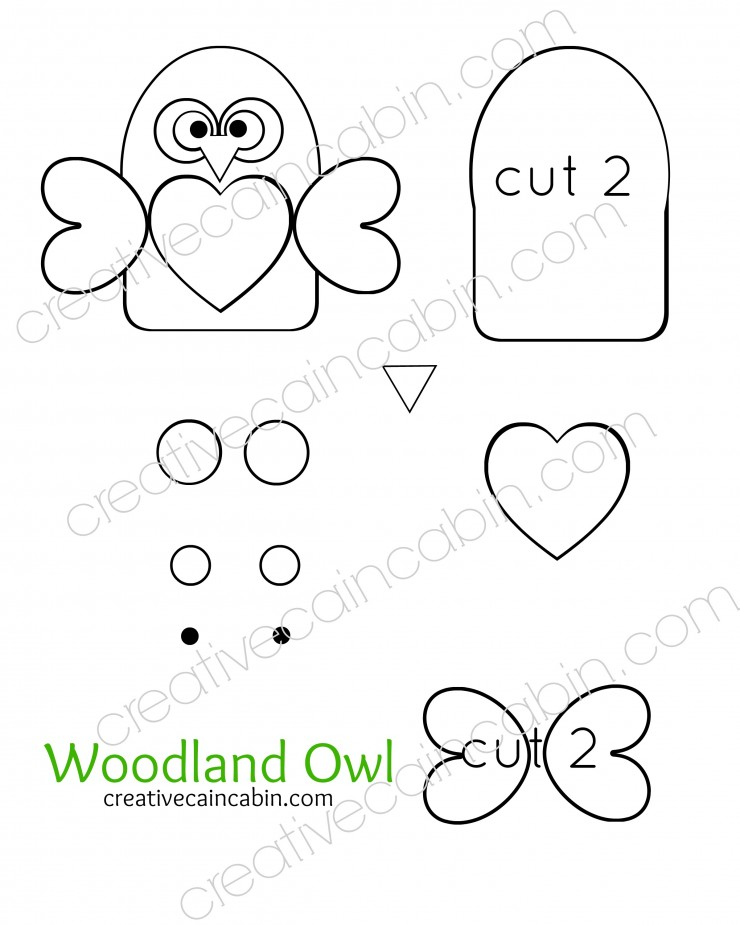 Woodland Felt Owl Pattern