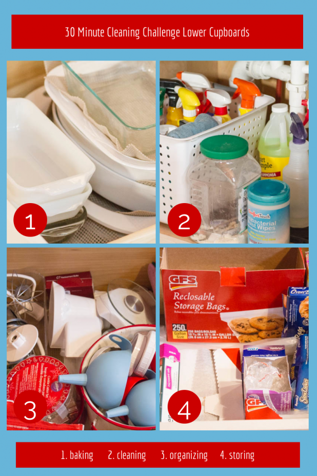 30 Minute Cleaning Challenge Lower Cupboards