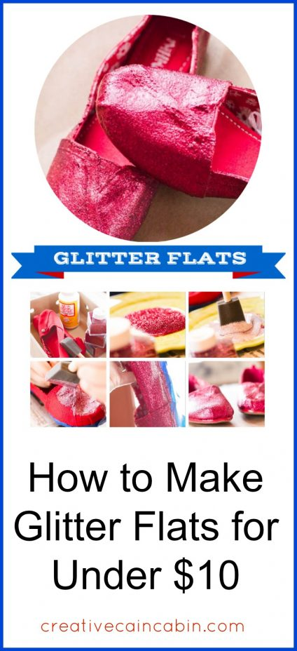 How to Make Glitter Flats