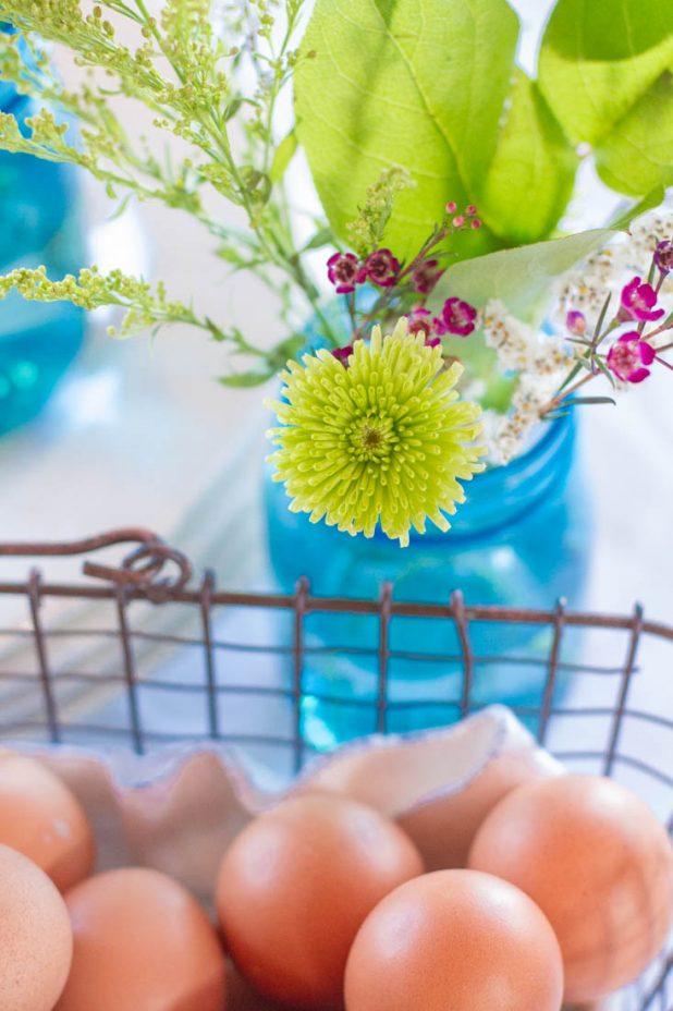 Spring Flowers and Farm Fresh Eggs