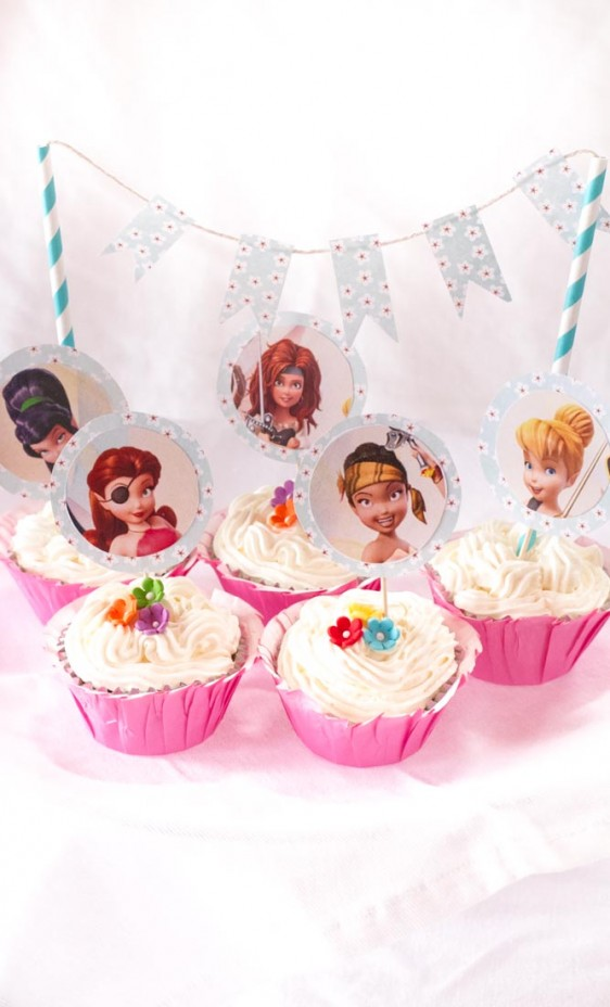 The Pirate Fairy Cupcake Toppers