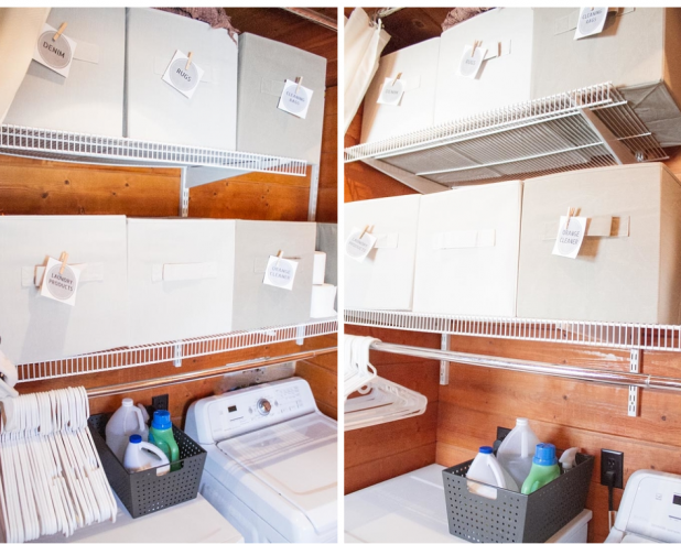 Organized Laundry Room Using Better Homes and Garden Cubes