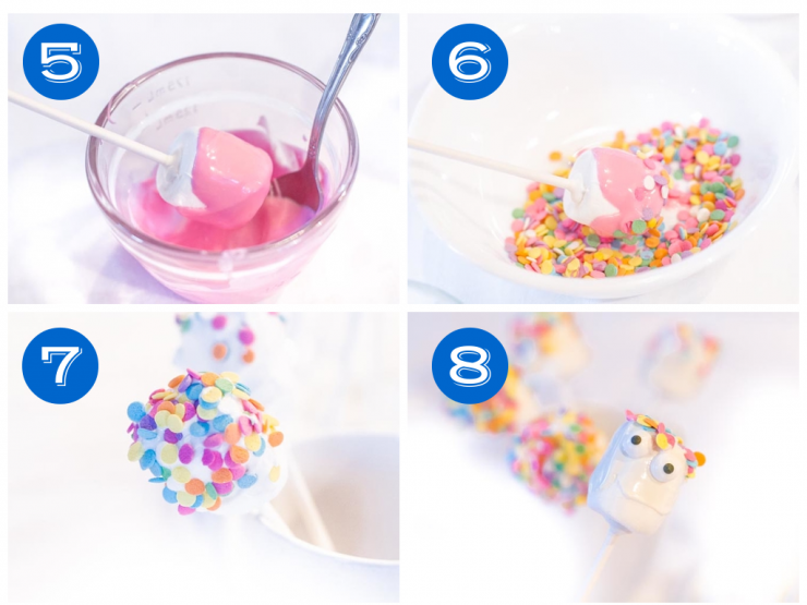 Marshmallow Pop Steps  5-8