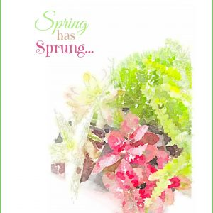 Spring Has Sprung Watercolor Printable