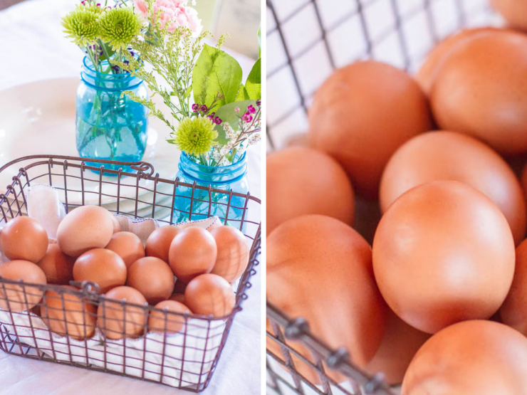 Spring Flowers and Farm Fresh Eggs