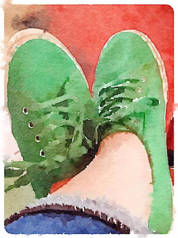Green Sneakers ~ Waterlogue App