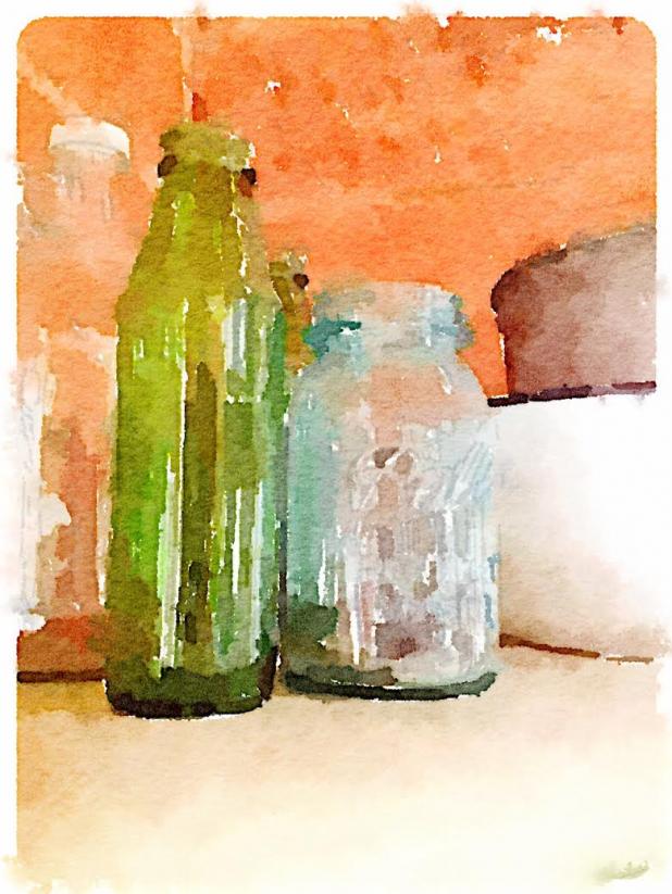 Jars and Bottles ~ Waterlogue App
