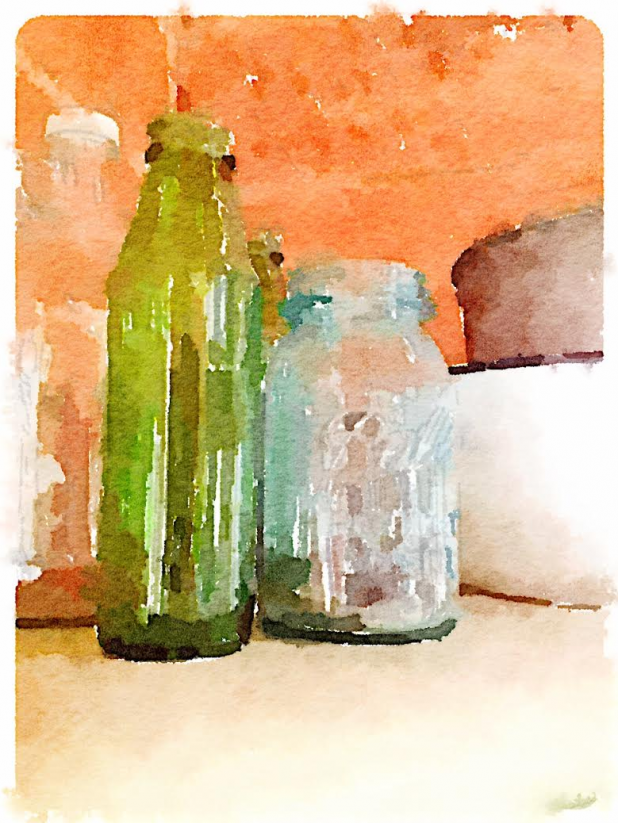 Jars and Bottles ~ Waterlogue App