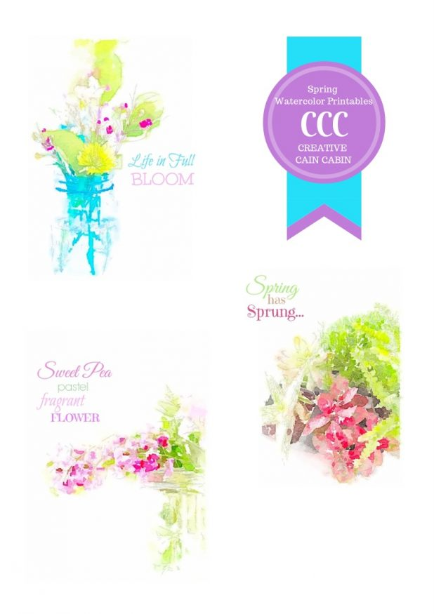 Spring Watercolor Printables
