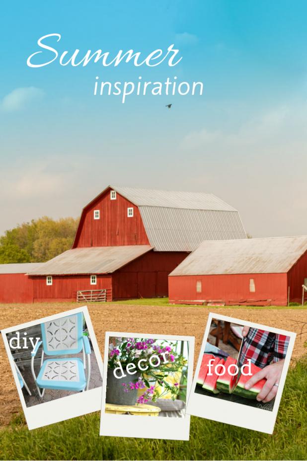 Summer Inspiration | DIY | Food | Decor | twitter.com/CCainCabin | http://www.pinterest.com/dawncain/ | #Summer