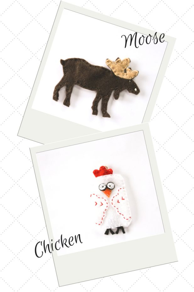 Chicken & Moose Felt Patterns | Creative Cain Cabin