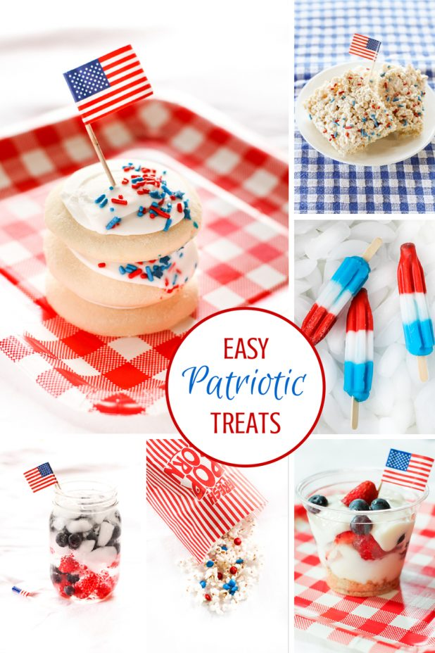 Easy Patriotic Treats That Anyone Can Make, They Take Less Than 5 Minutes to Create   4th of July   Red, White & Blue   Holiday Snacks   Kid Friendly  Creative Cain Cabin