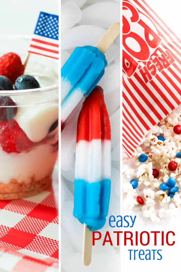 Easy Patriotic Treats | 4th of July | Red White & Blue | Creative Cain Cabin