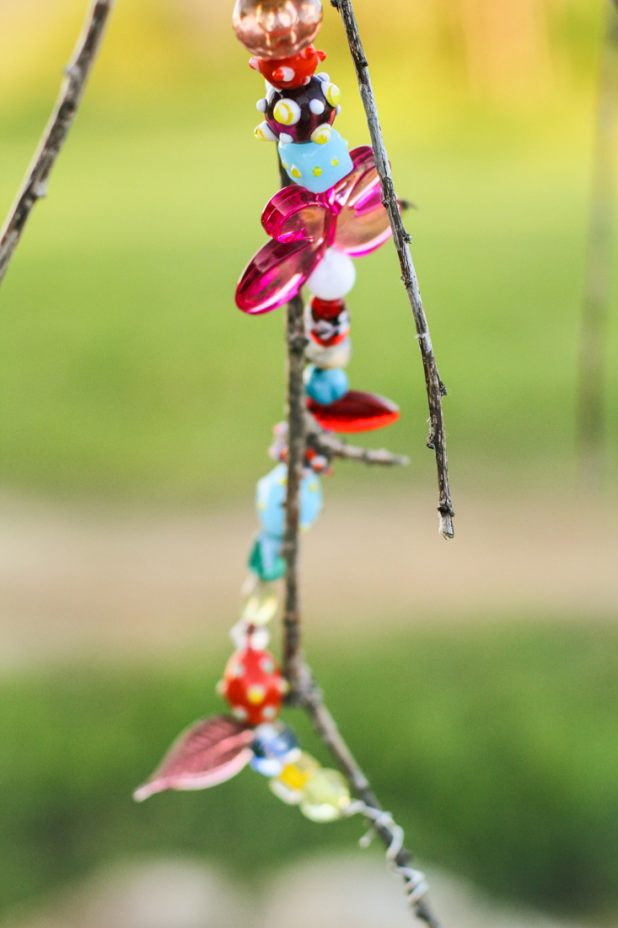 Jeweled Weeping Cherry |Diy Garden Art | Creative Cain Cabin