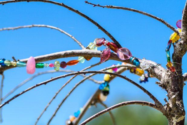 Garden Art  Bead Project  Weeping Cherry   Creative Cain Cabin
