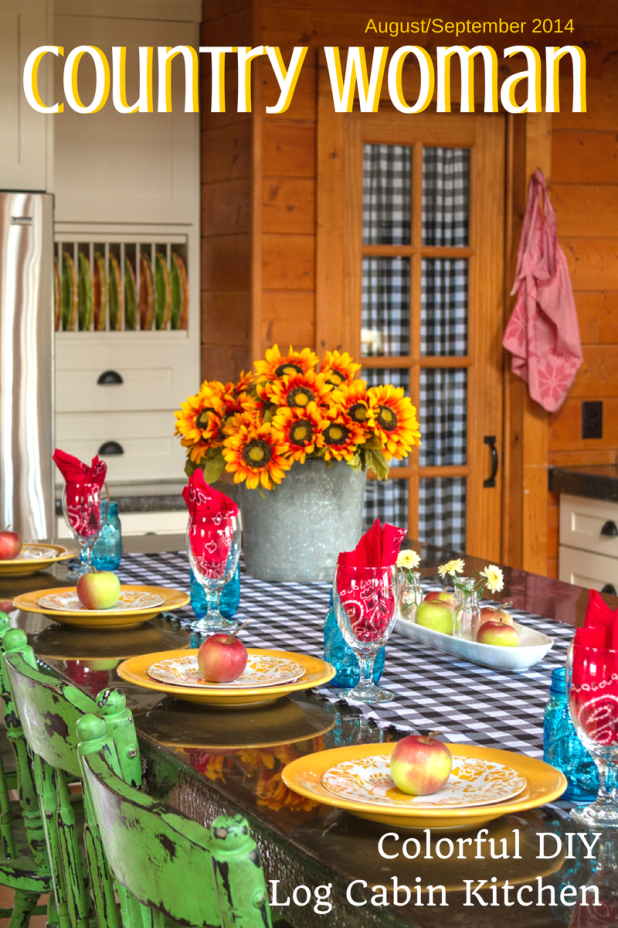 Colorful DIY Log Cabin Kitchen | Creative Cain Cabin