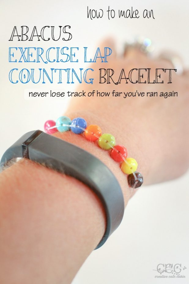 How to Make An Abacus Exercise Lap Counting Bracelet | DIY Tutorial | Creative Cain Cabin