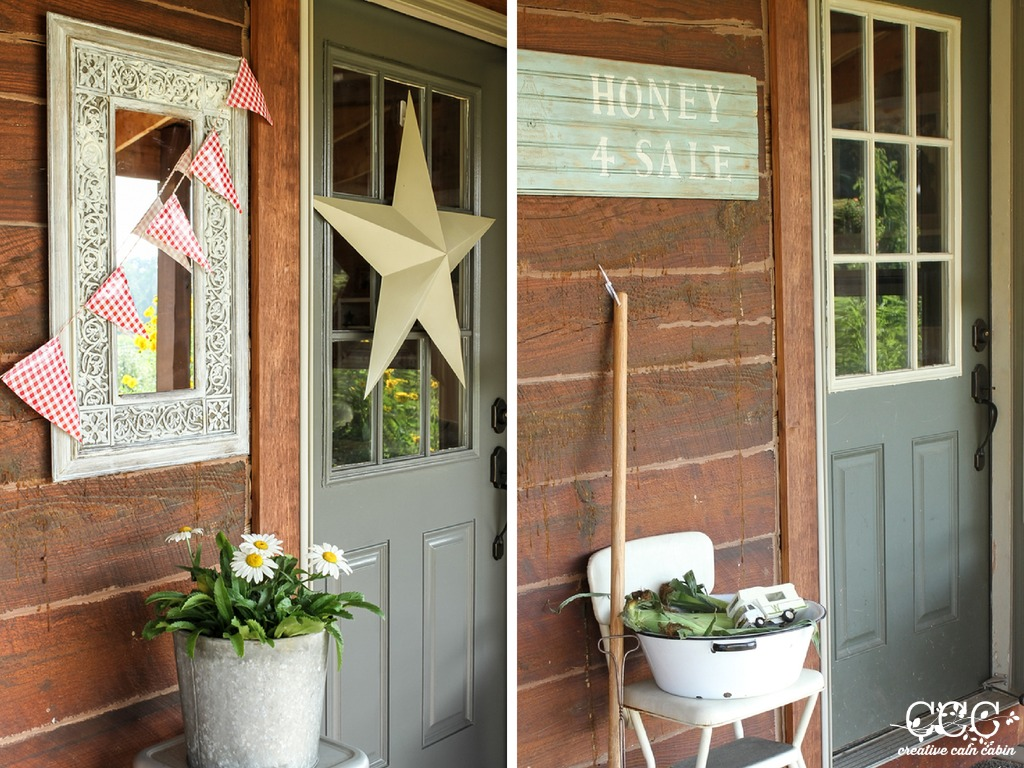 Gray and Green Door | Creative Cain Cabin