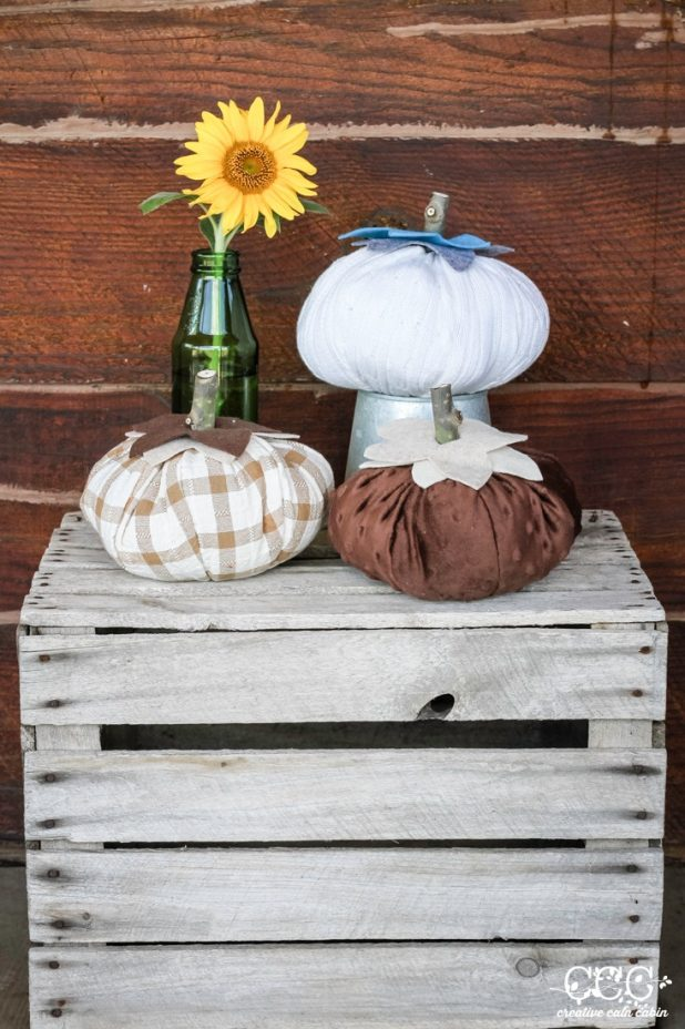 Fabric Pumpkin Pattern | Creative Cain Cabin