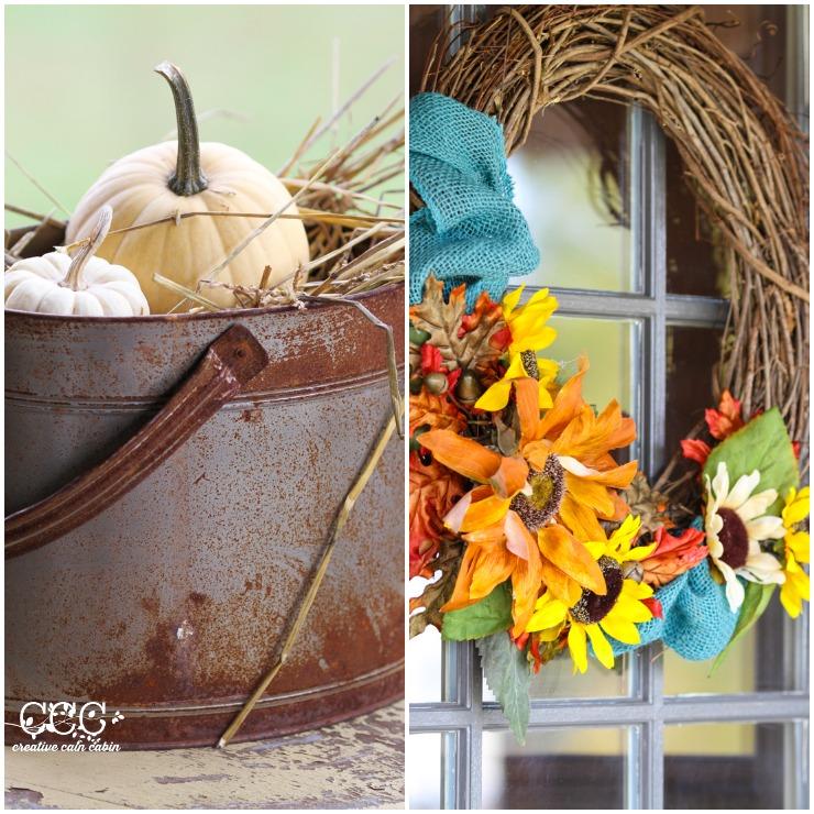 Fall Porch Decor | CreativeCainCabin.com
