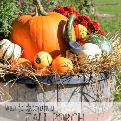 How to Decorate a Fall Porch for Under $40
