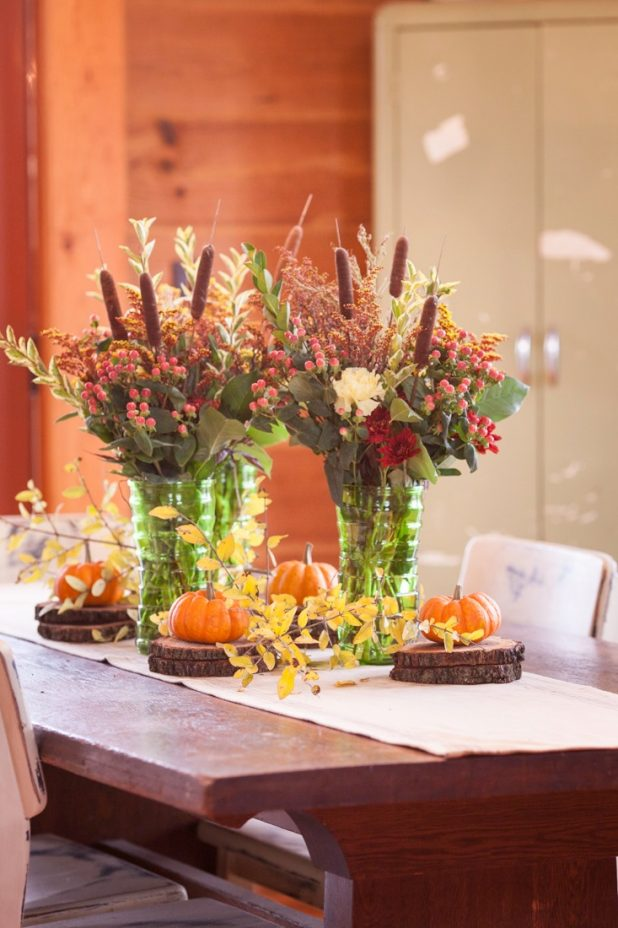 Easy Fall Centerpiece Using Grocery Store Items