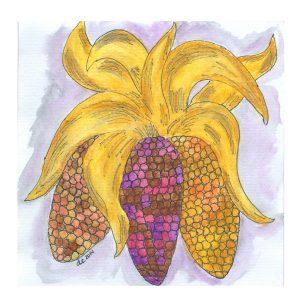 Indian Corn Watercolor | Creative Cain Cabin
