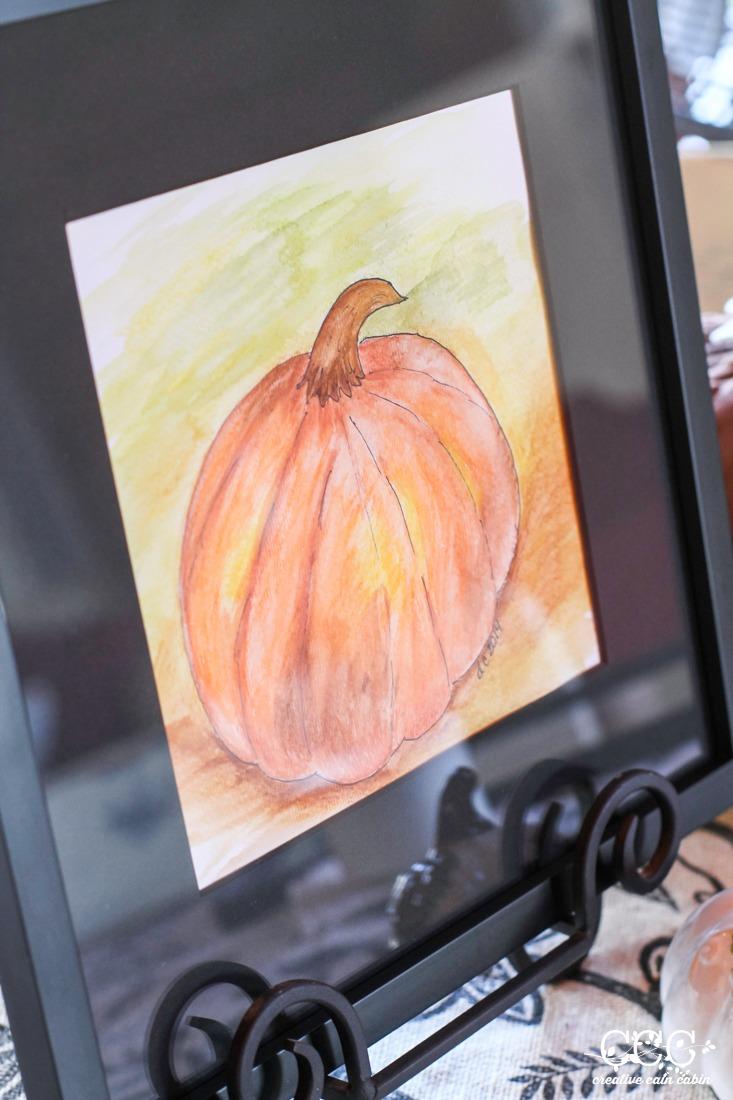 Fall Pumpkin Watercolor | Creative Cain Cabin