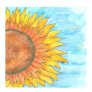 Sunflower Watercolor | Creative Cain Cabin