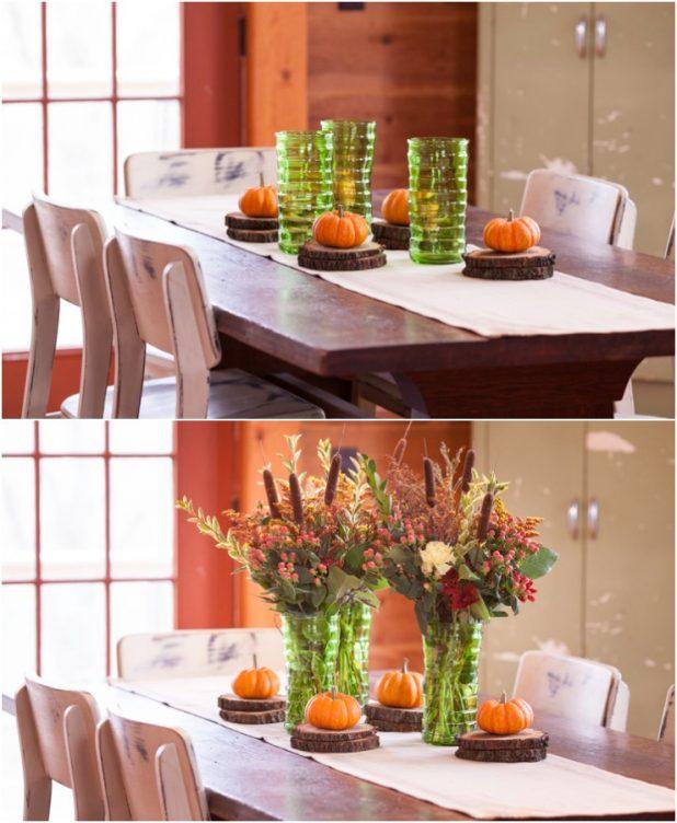 How to Layer a Fall Table Centerpiece | Creativecaincabin.com