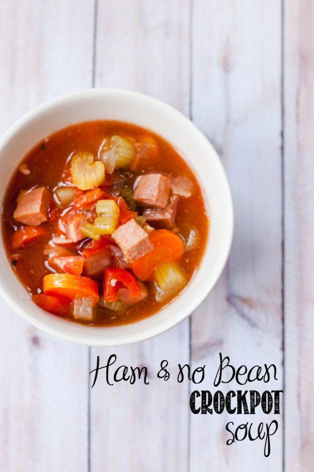 Ham & no Bean Soup Recipe | Paleo | Paleo Bean Soup | Crockpot Paleo Soup | Creativecaincabin.com