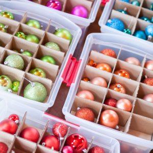How to Organize Christmas Ornaments | creativecaincabin.com