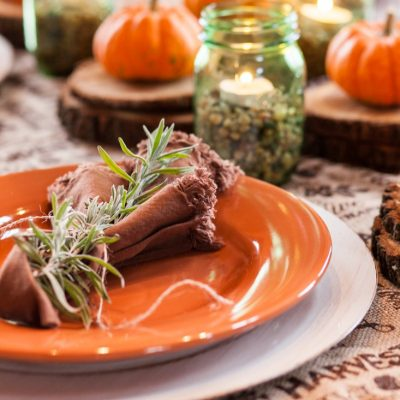 Easy, Last Minute, Rustic Thanksgiving Table