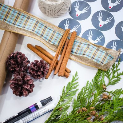 Gift Wrap Ideas Using Craft Paper and Nature