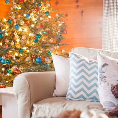 Turquoise, Rust, and Blush Christmas Tree