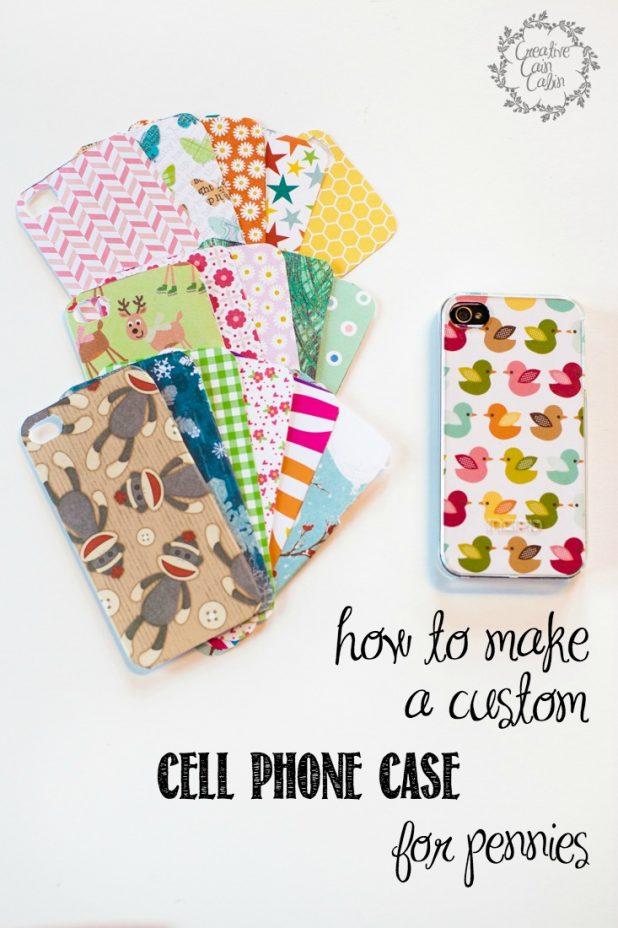 How to Make a Custom Cell Phone Case for Pennies   CreativeCainCabin.com