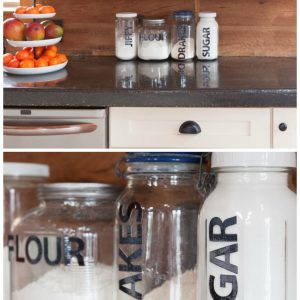 Vinyl Lettered Pantry Storage Containers | CreativeCainCabin.com